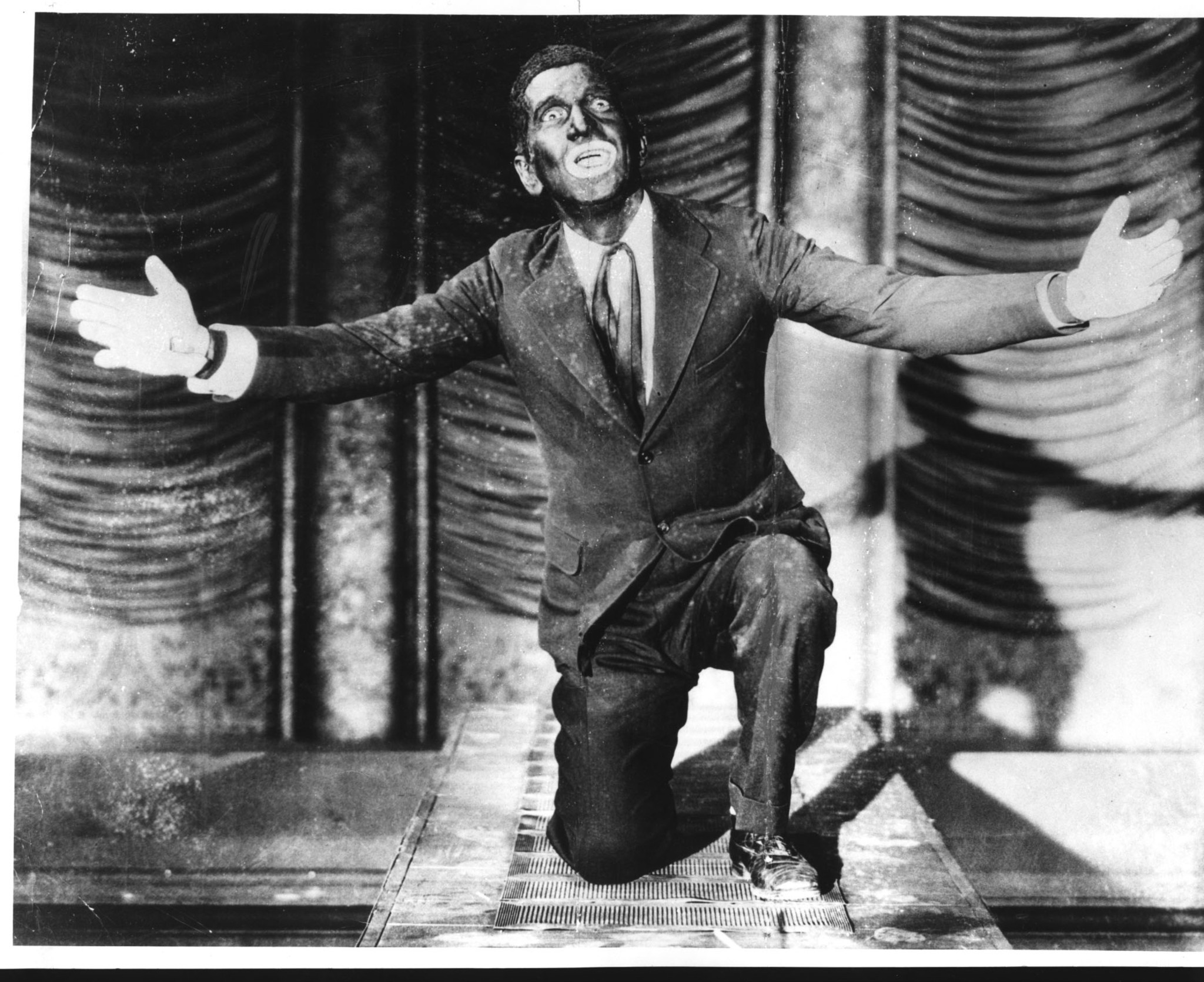 "Al Jolson in ""The Jazz Singer,"" which famously featured the performer in blackface."