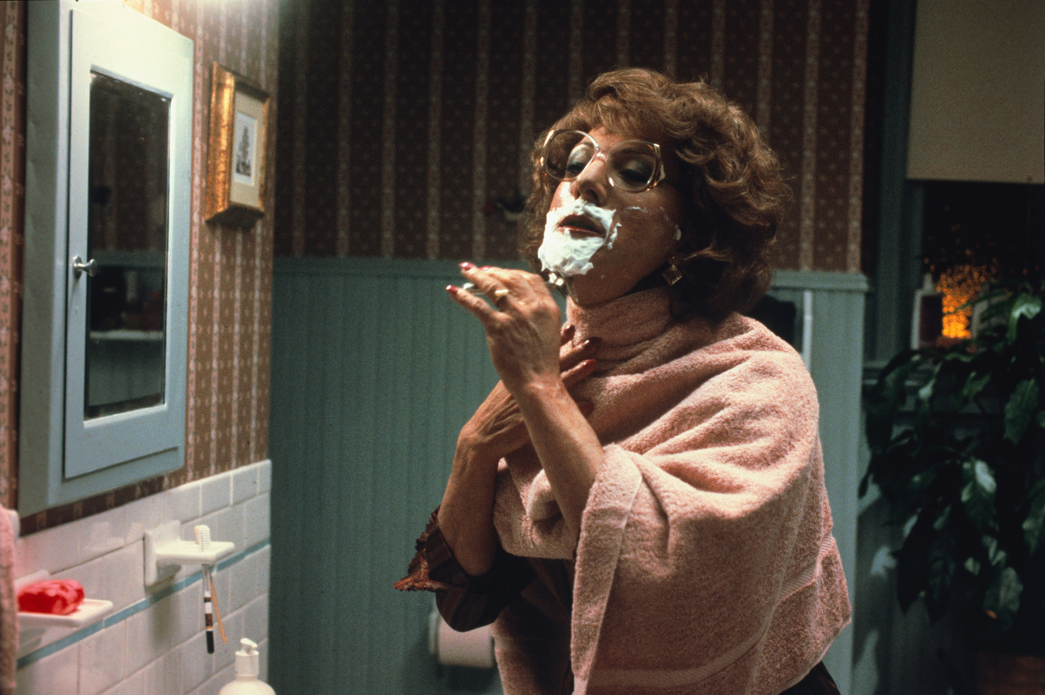 "Dustin Hoffman in the 1982 movie ""Tootsie,"" in which he played a man pretending to be a woman."