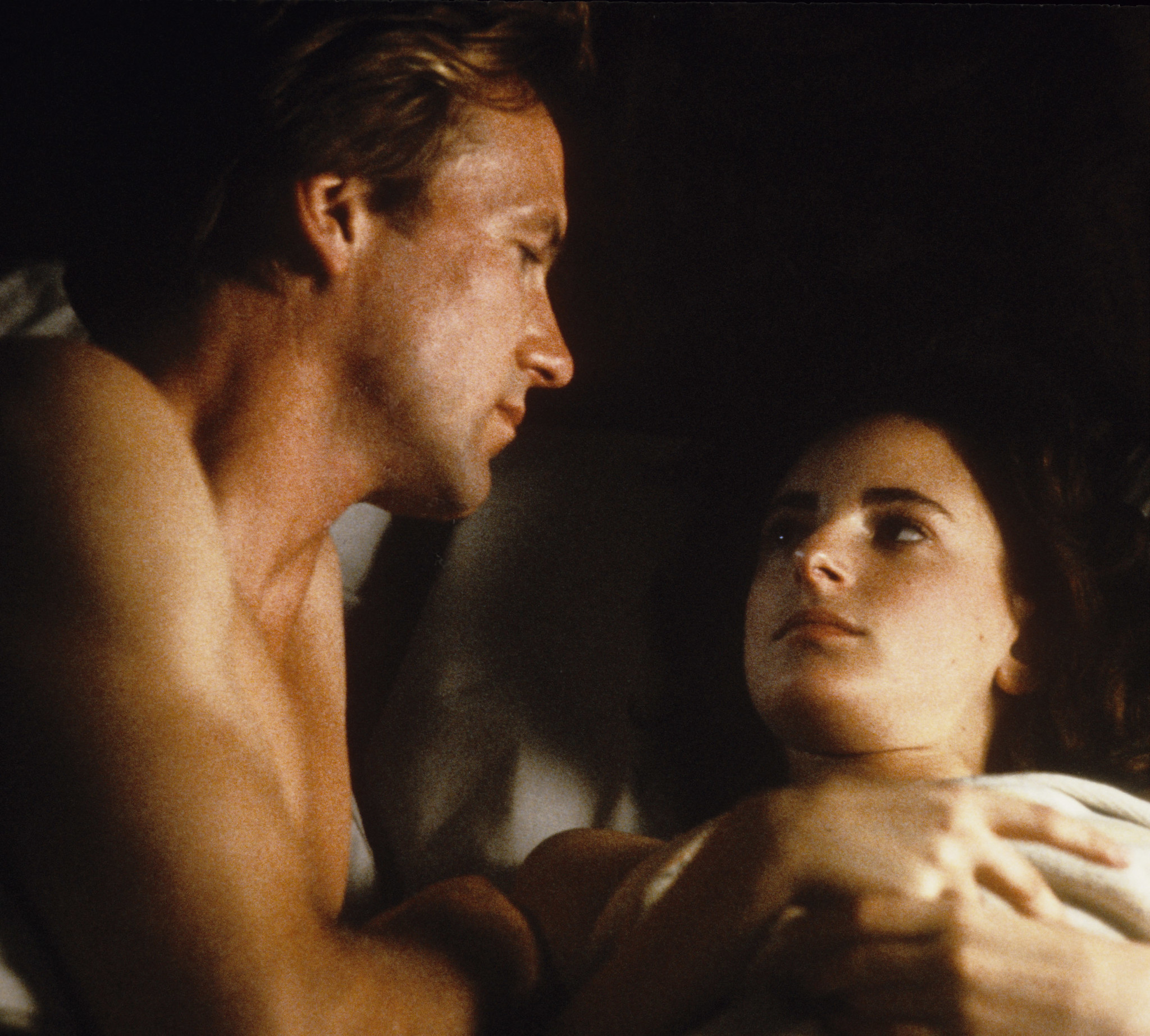 "William Hurt and Marlee Matlin in ""Children of a Lesser God."""