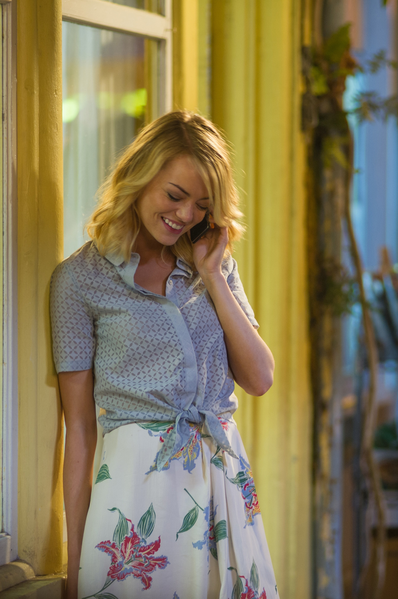 "Emma Stone as Allison Ng in Cameron Crowe's ""Aloha."""