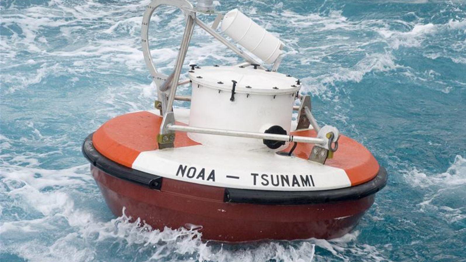 A tsunami buoy.