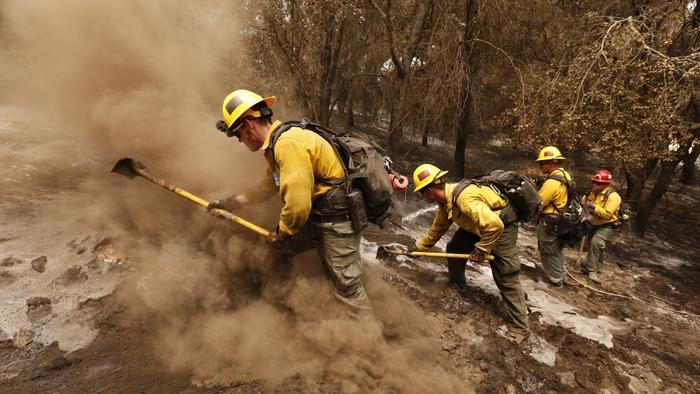 Wildfires across California