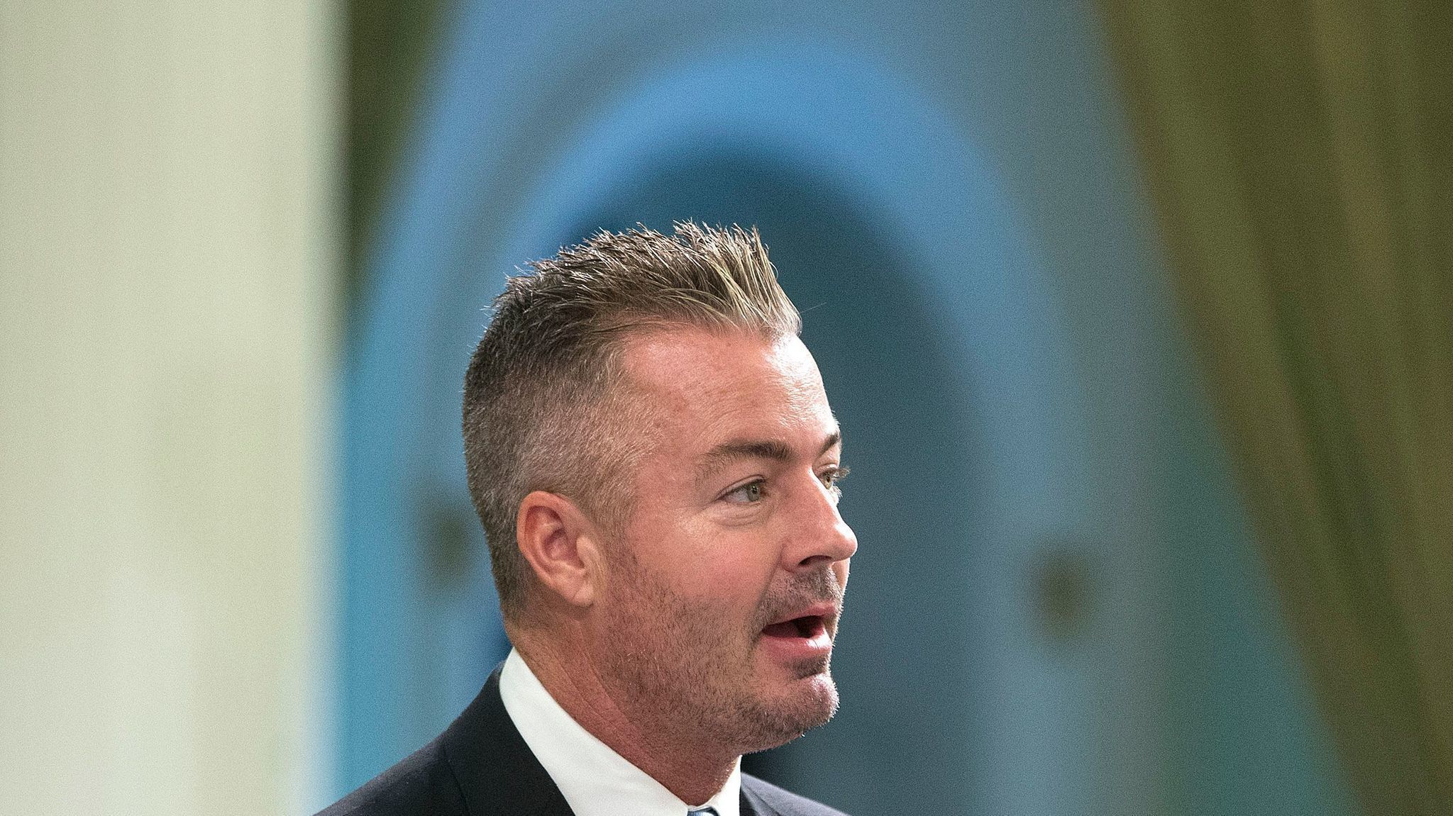 Assemblyman Travis Allen (R-Huntington Beach) wants to repeal the gas tax increase approved by the governor in April. (Rich Pedroncelli / Associated Press)