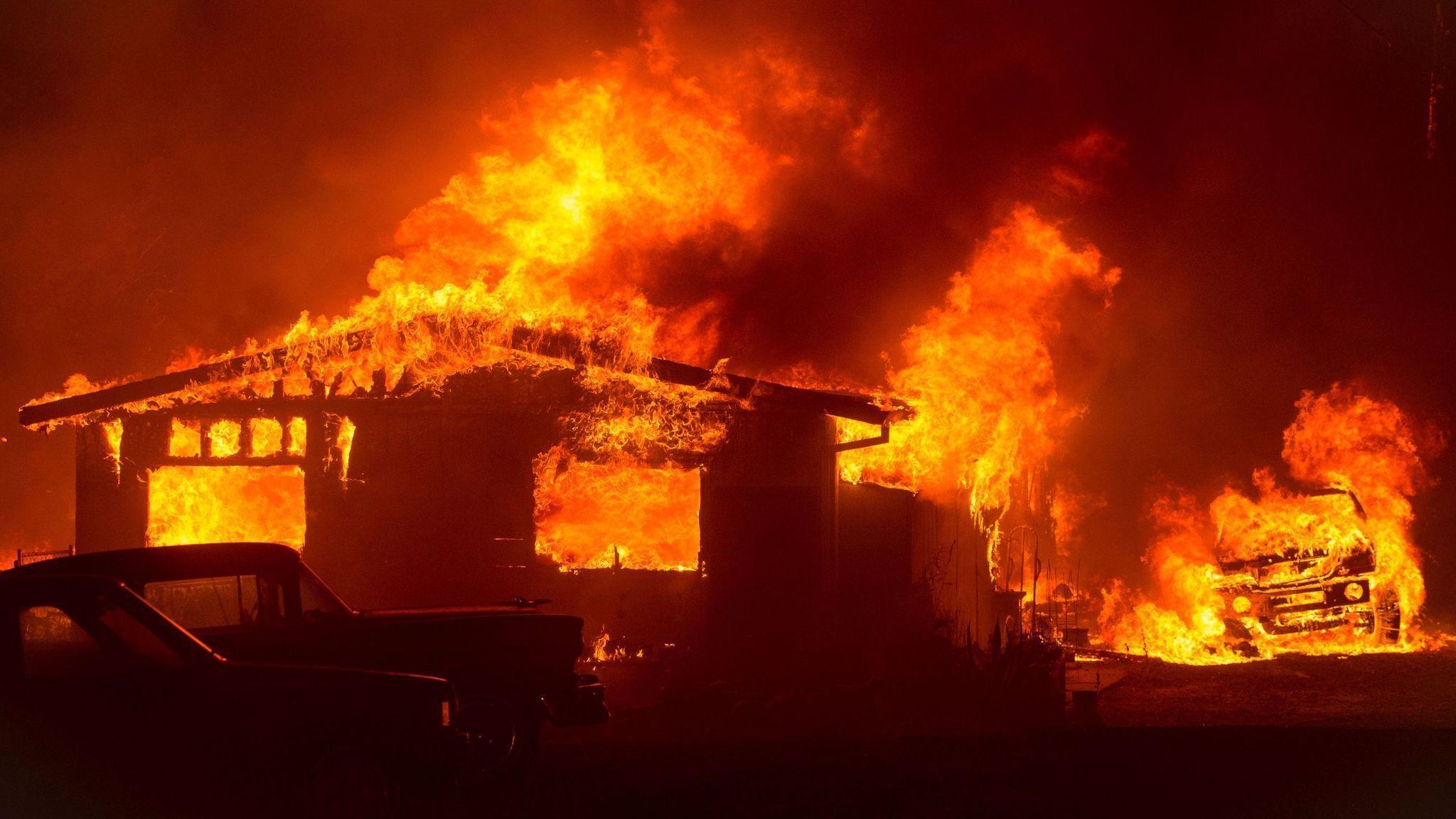 Wildfires Across California Destroy More Than Two Dozen
