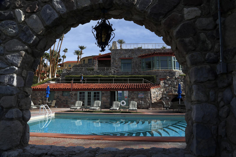Dip Into The Grandest Swimming Pool In Death Valley La Times