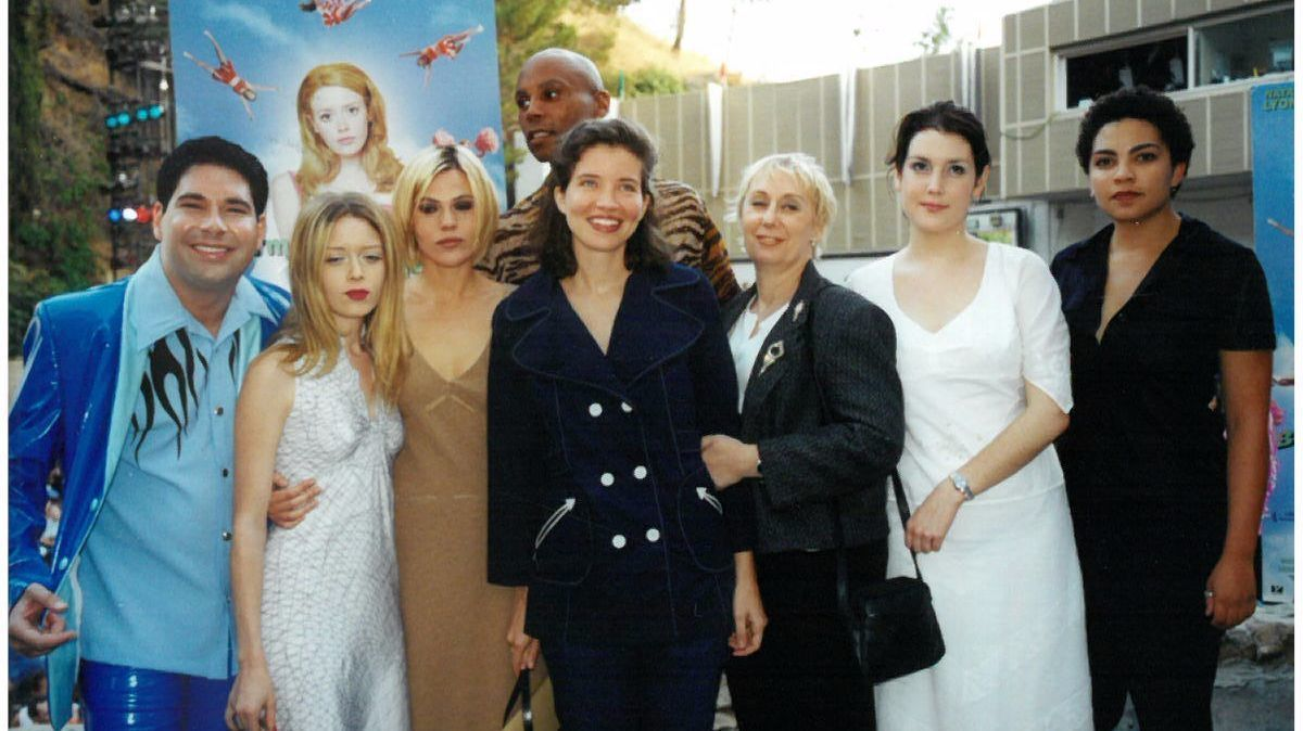 "The cast of ""But I'm a Cheerleader"" at the Ford Amphitheatre in 1999."