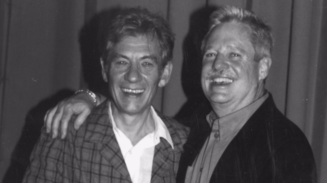 Ian McKellen, left, was awarded the Outfest Achievement Award in 1998 from presenter Armistead Maupin.