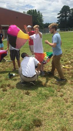 WPPS Students test hot air balloons