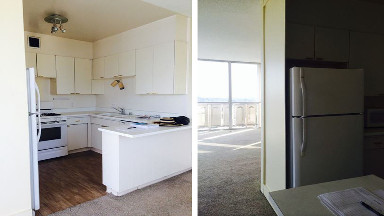 A new kitchen, installed on a platform to take in the views ...
