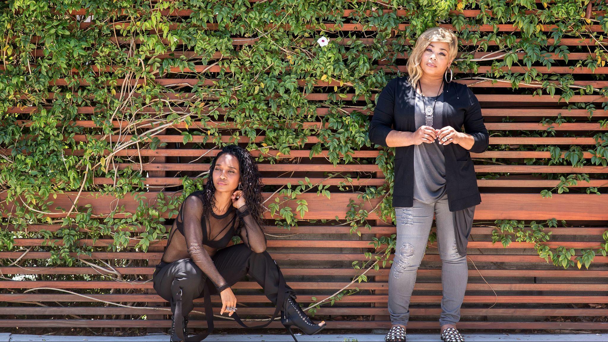 "TLC's Tionne ""T-Boz"" Watkins, left, and Rozonda ""Chilli"" Thomas."