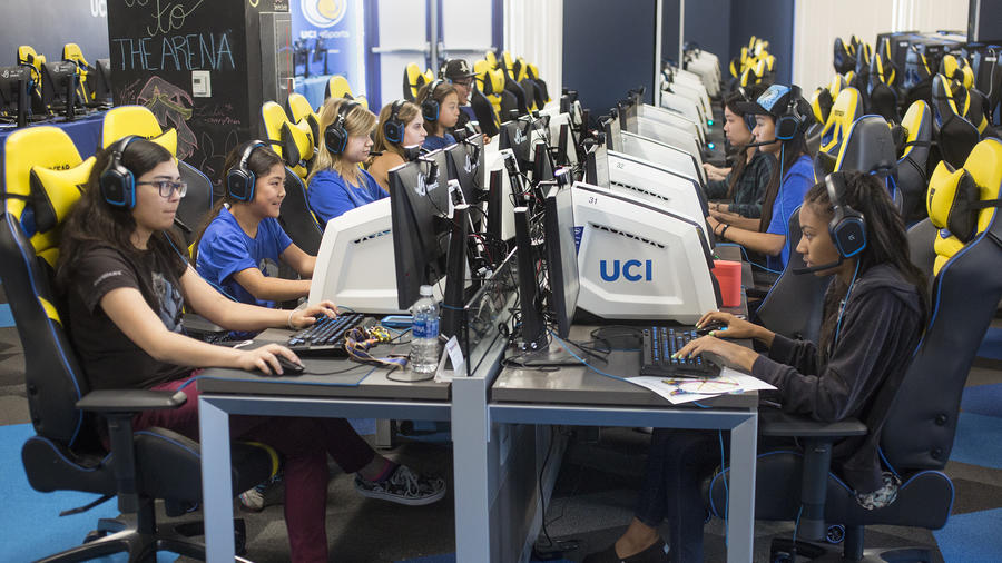 The UCI eSports arena at UC Irvine hosted its first gaming summer camp for girls recently.