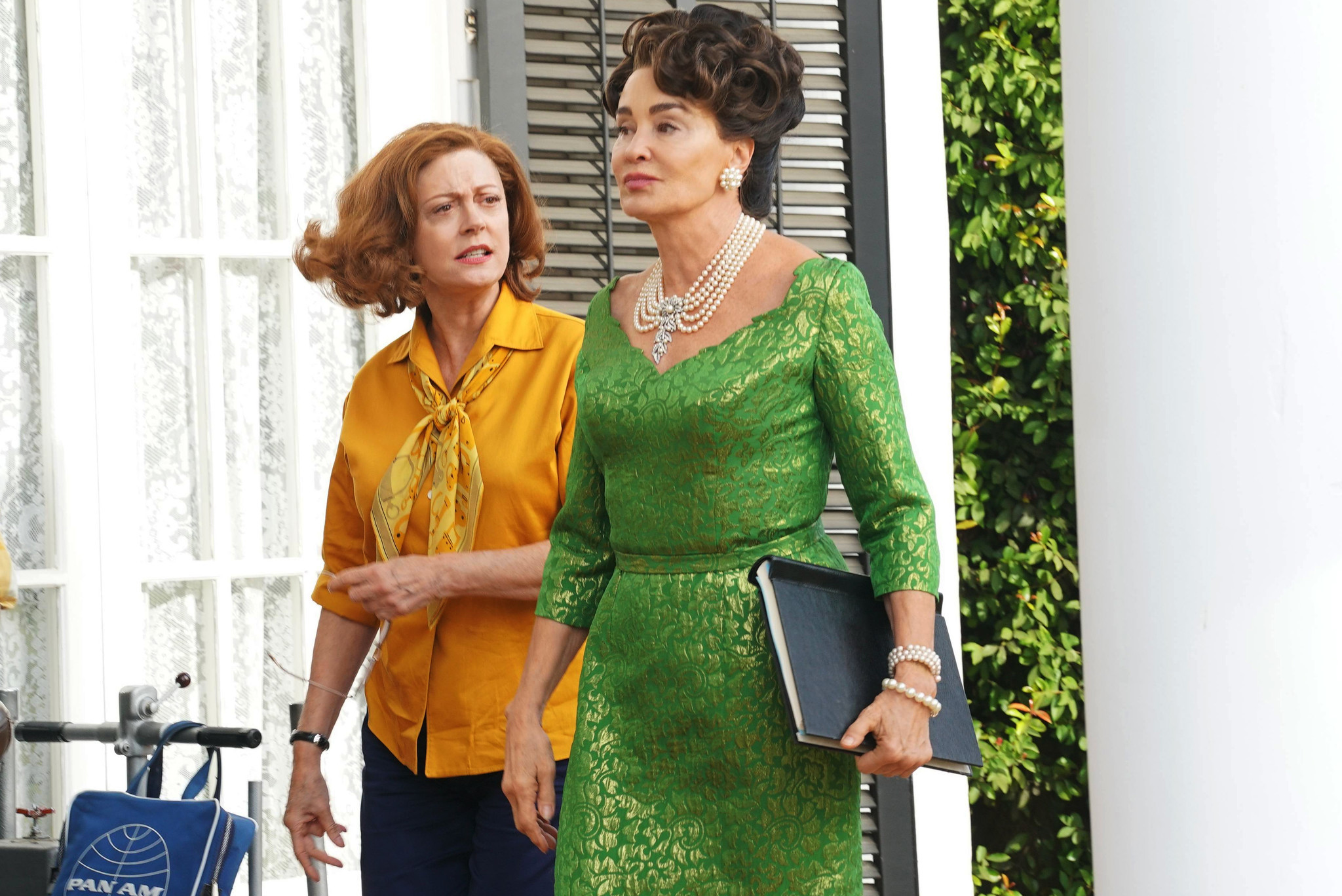 "Susan Sarandon as Bette Davis and Jessica Lange as Joan Crawford in ""Feud: Bette and Joan."" (Byron Cohen / FX)"