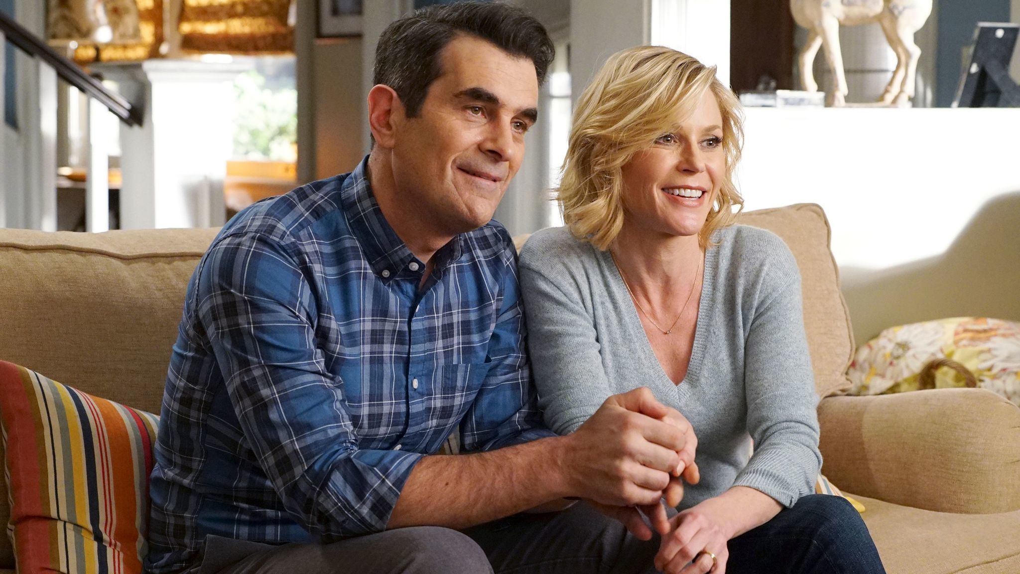 "Ty Burrell and Julie Bowen from ""Modern Family."" Burrell was nominated for an Emmy for supporting actor in a comedy series. (Eric McCandless / ABC)"