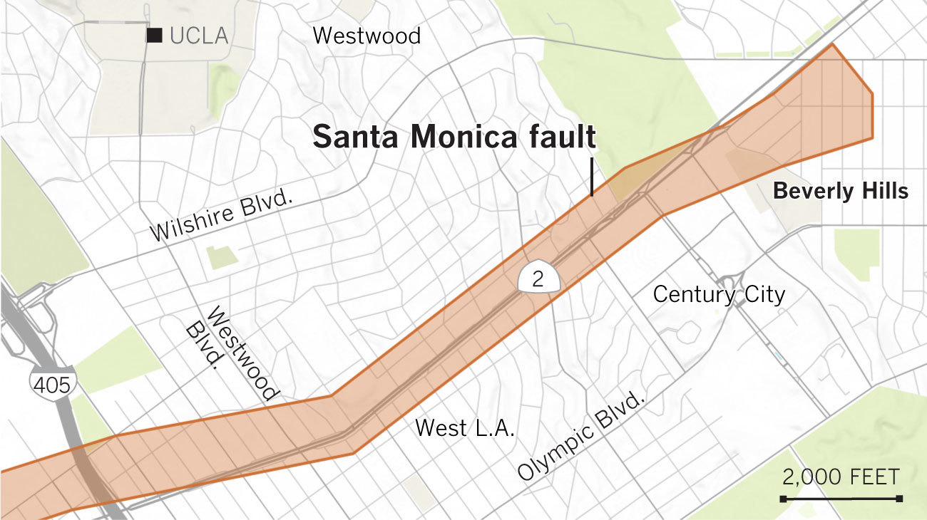 Earthquake Fault Maps For Beverly Hills Santa Monica And Other - Los angeles map westwood