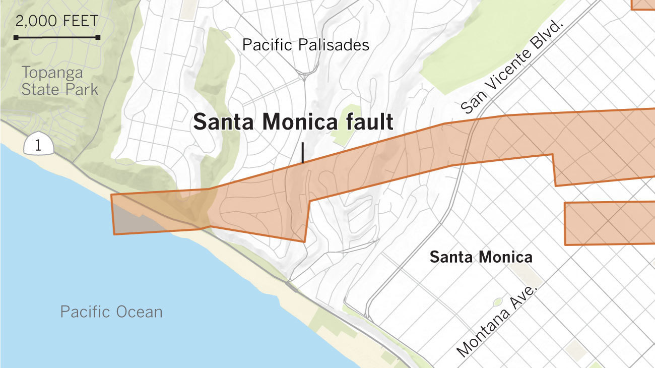 pacific palisades santa monica draft earthquake fault zone