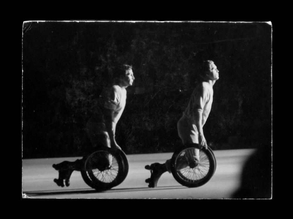 Hopper captured a performance by Robert Rauschenberg and Swedish Fluxus artist Per Olof Ultvedt in 1966.