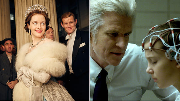 """The Crown"" and ""Stranger Things"" (Netflix)"