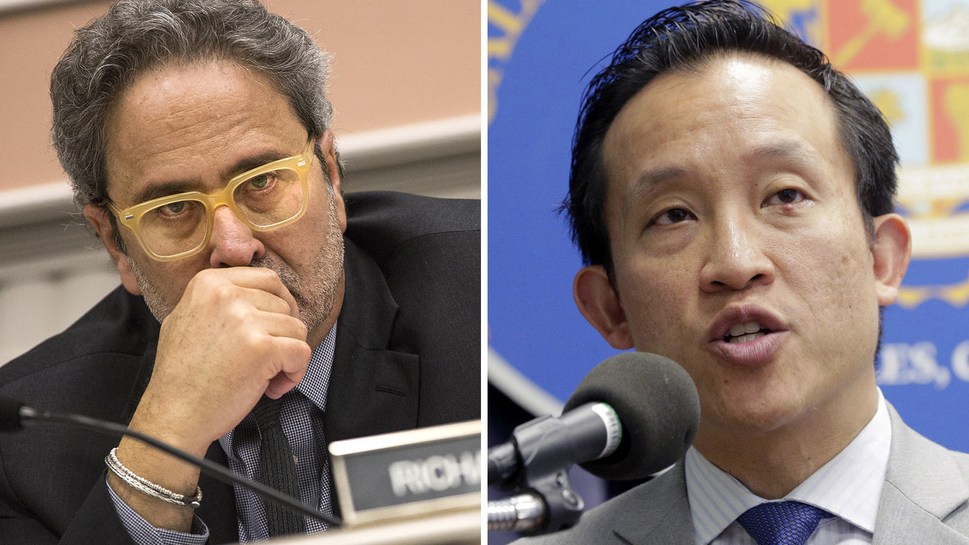 Assembly Democrats Richard Bloom of Santa Monica, left, and David Chiu of San Francisco.