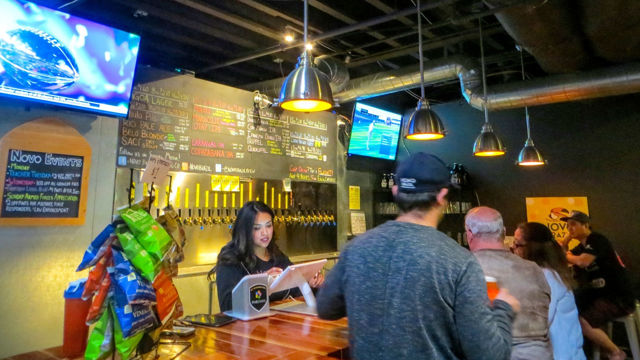 Bellying up to the bar at Novo Brazil Brewing in Chula Vista.