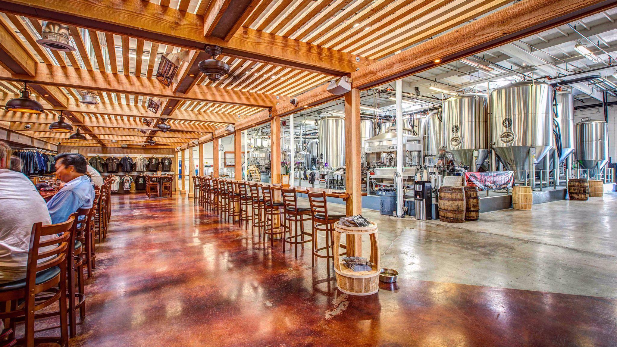 Tasting room and production at Coronado Brewing Co.