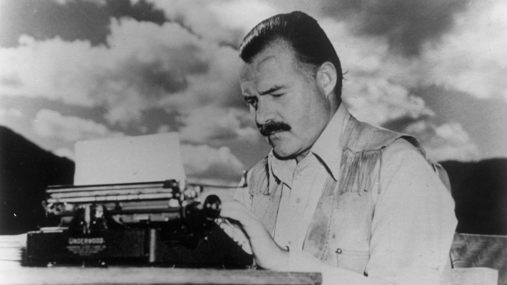 "Ernest Hemingway in 1937, the year he brought his film ""The Spanish Earth"" to Hollywood. (Helen Breaker)"