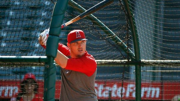While recovering from injury, Mike Trout stayed busy keeping up with his Angels teammates