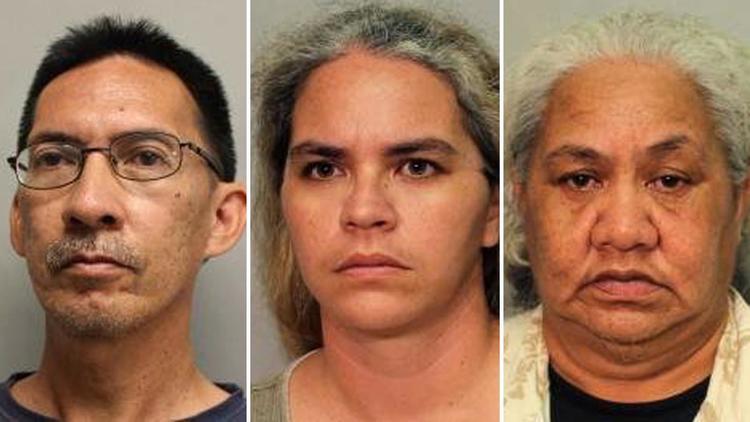 На Гавайях отец, мать и бабушка обвиняются в том, что заморили голодом девочку