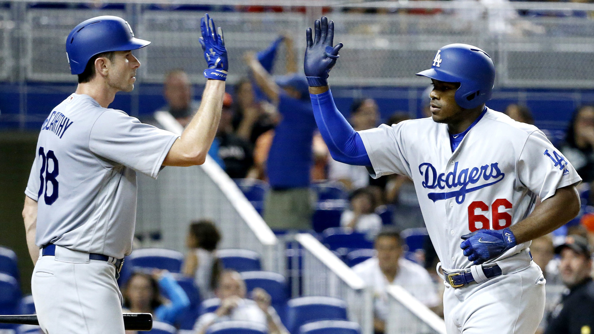 Yasiel Puig's two-out, ninth-inning home run lifts Dodgers ...