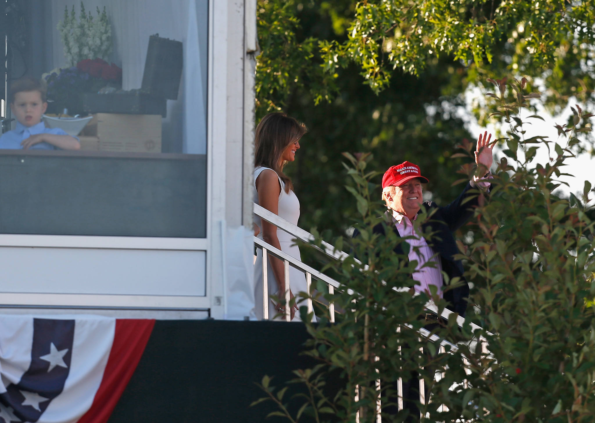Melania Trump looks radiant in playful sleeveless dress at US Women's Open