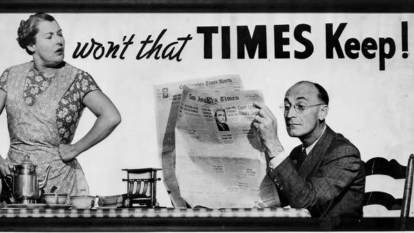 From the Archives: 1938 Times billboard wins award