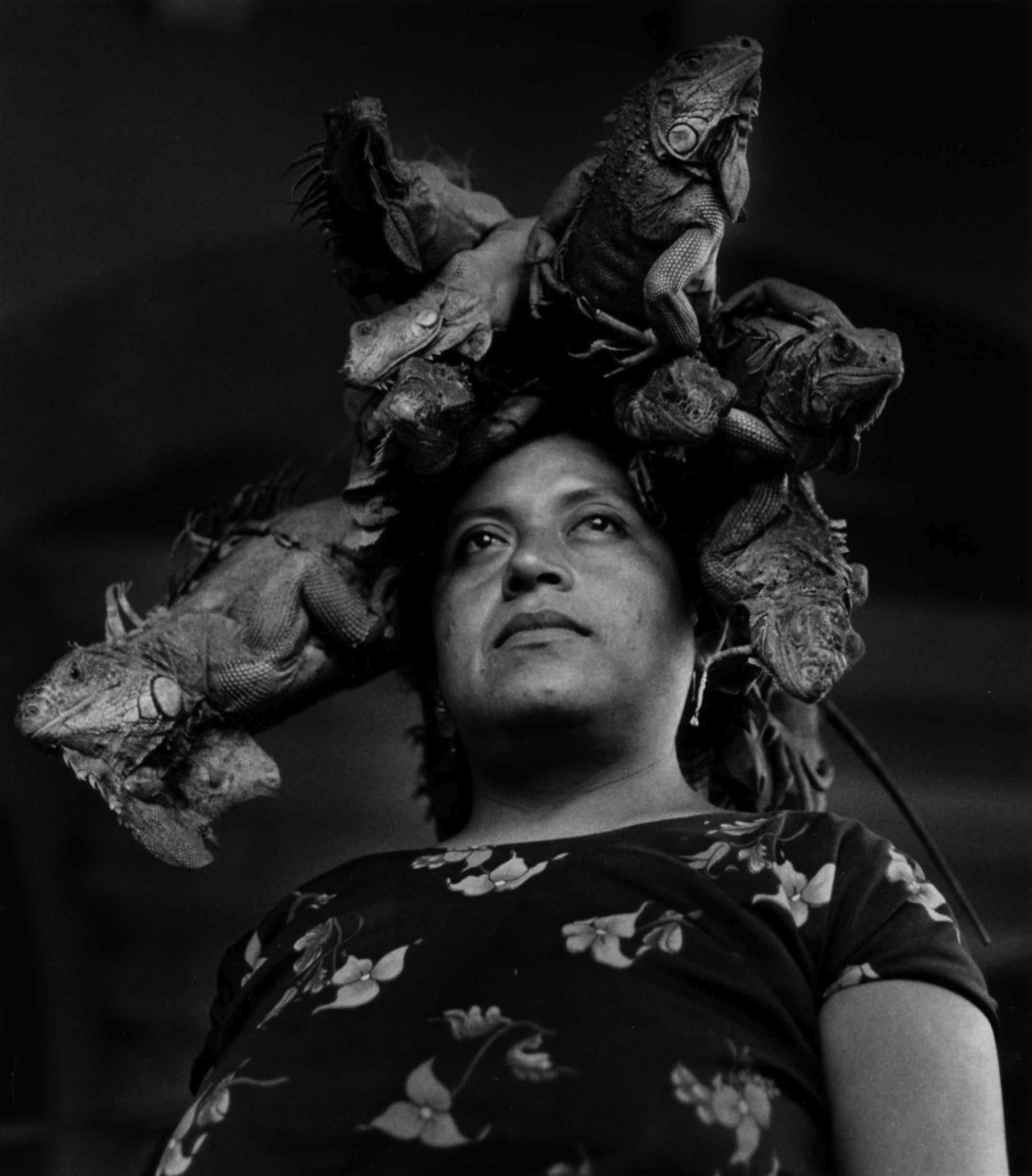 """Our Lady of the Iguanas, Juchitán, Mexico,"" 1979, is one of Graciela Iturbide's most iconic images."