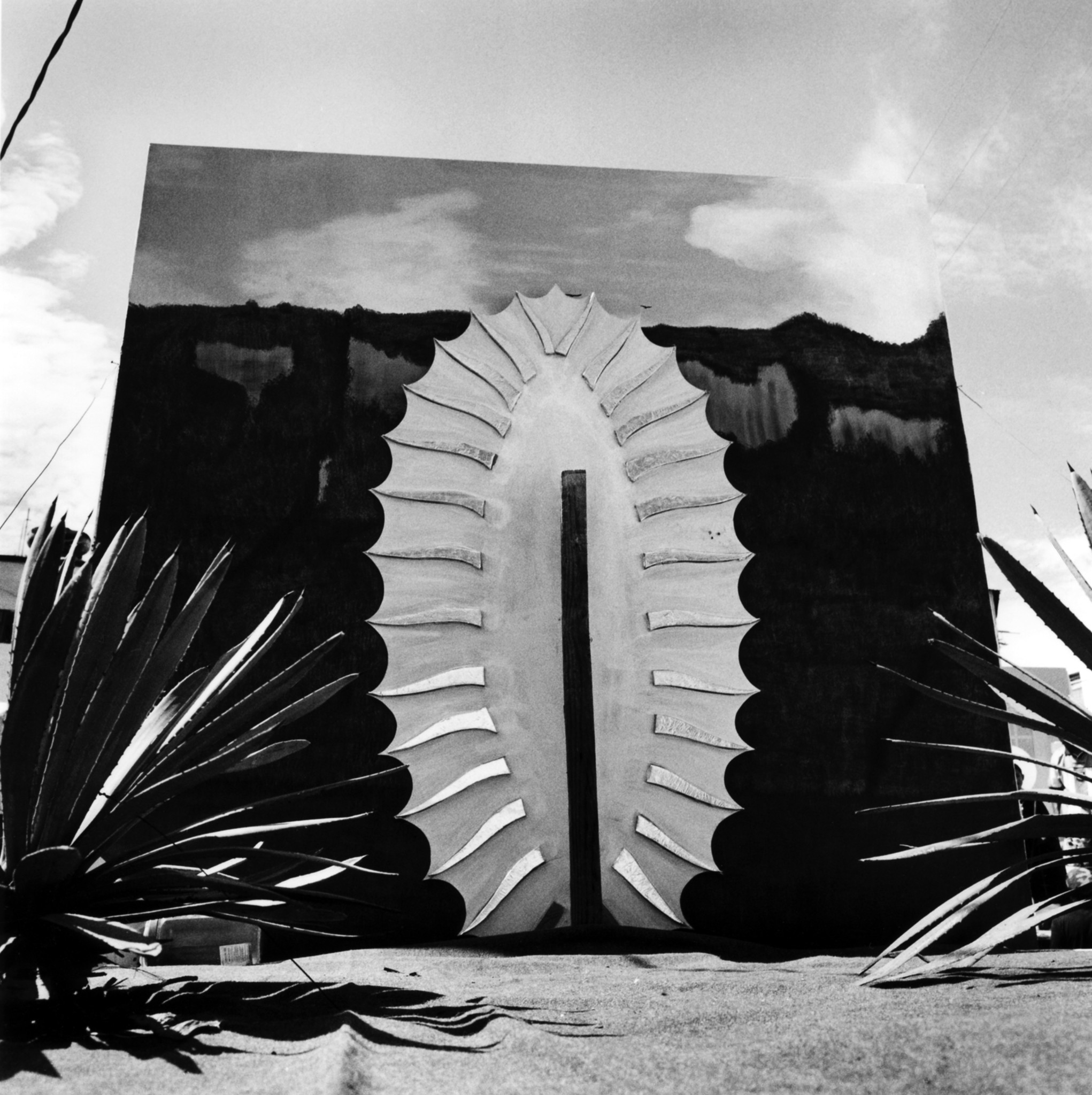 """Virgen de Guadalupe, Chalma, Mexico,"" 2007, by Graciela Iturbide, captures a monument missing its Virgin."