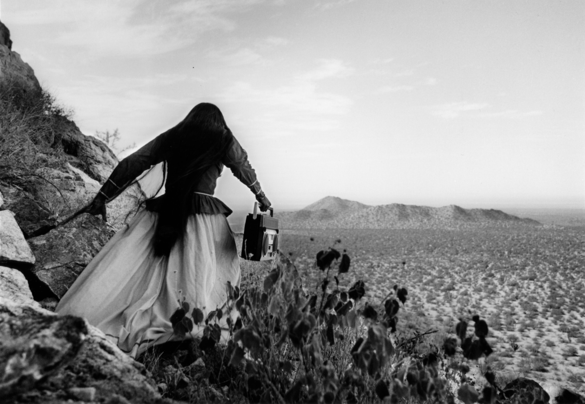 """Angel Woman, Sonora Desert, Mexico,"" 1979 — from a series devoted to the Seri people of northern Mexico."