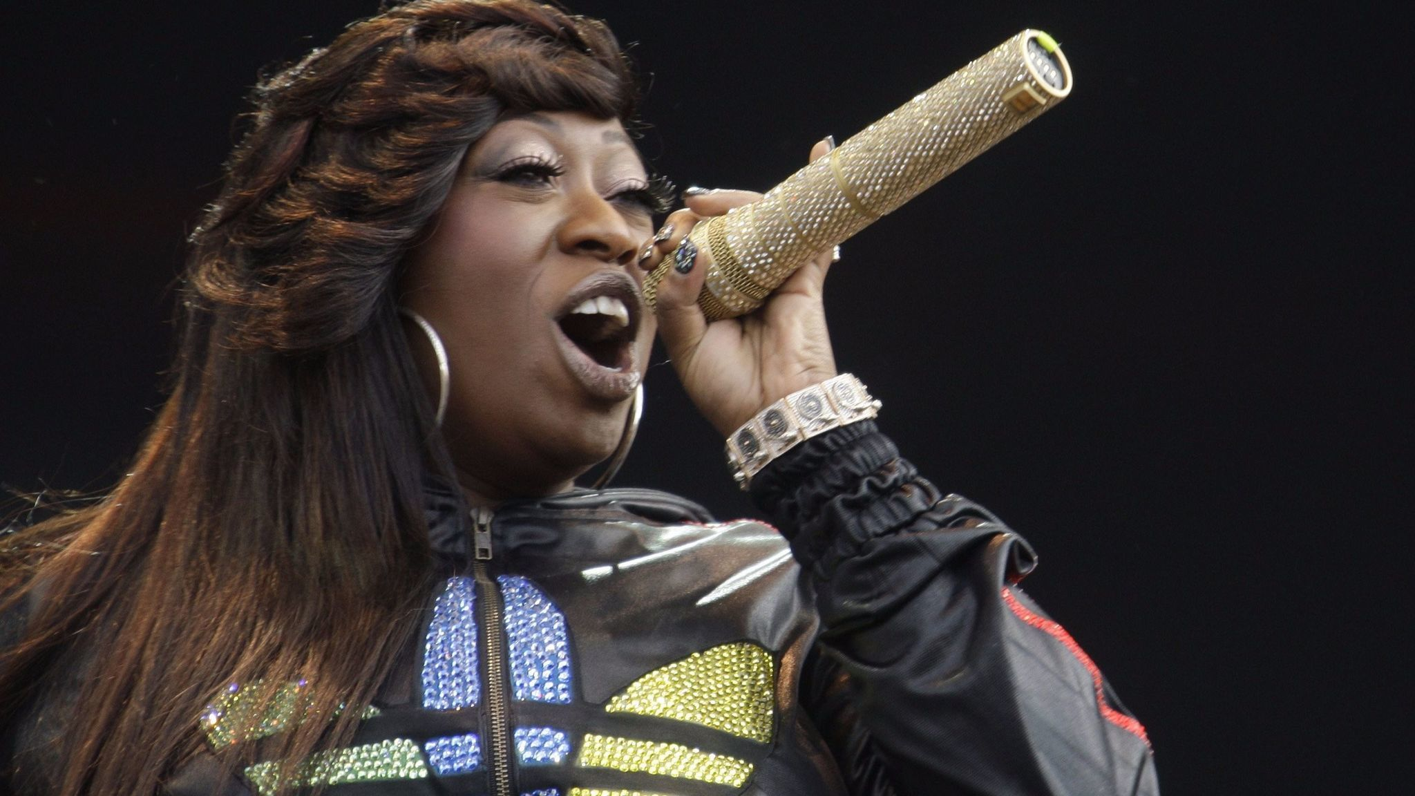 Missy Elliott at a 2010 performance in London's Hyde Park.