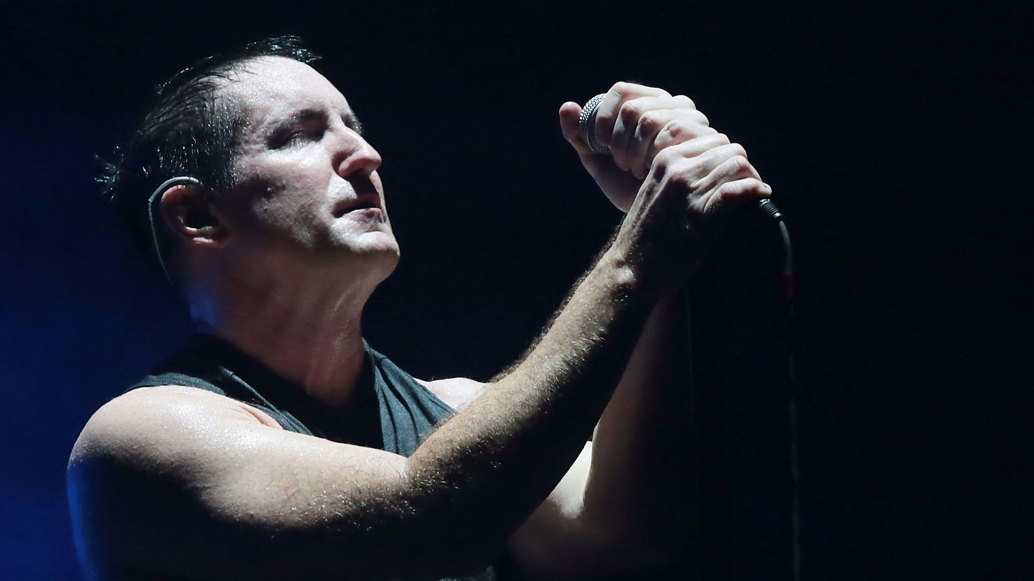 Trent Reznor at a 2013 Staples Center concert.
