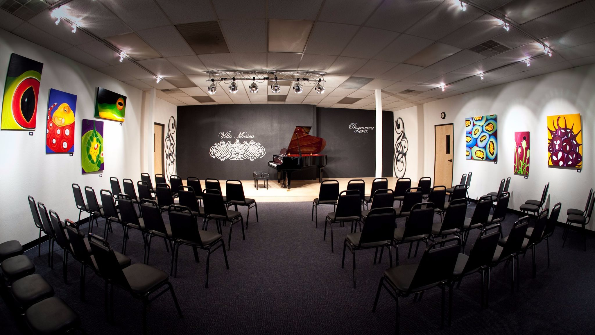 The Villa Musica recital hall.