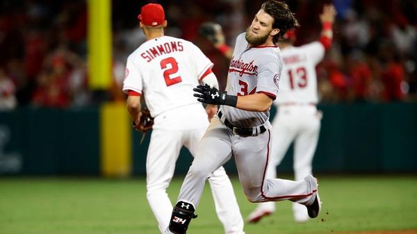 Nationals edge Angels in showdown between Bryce Harper and Mike Trout
