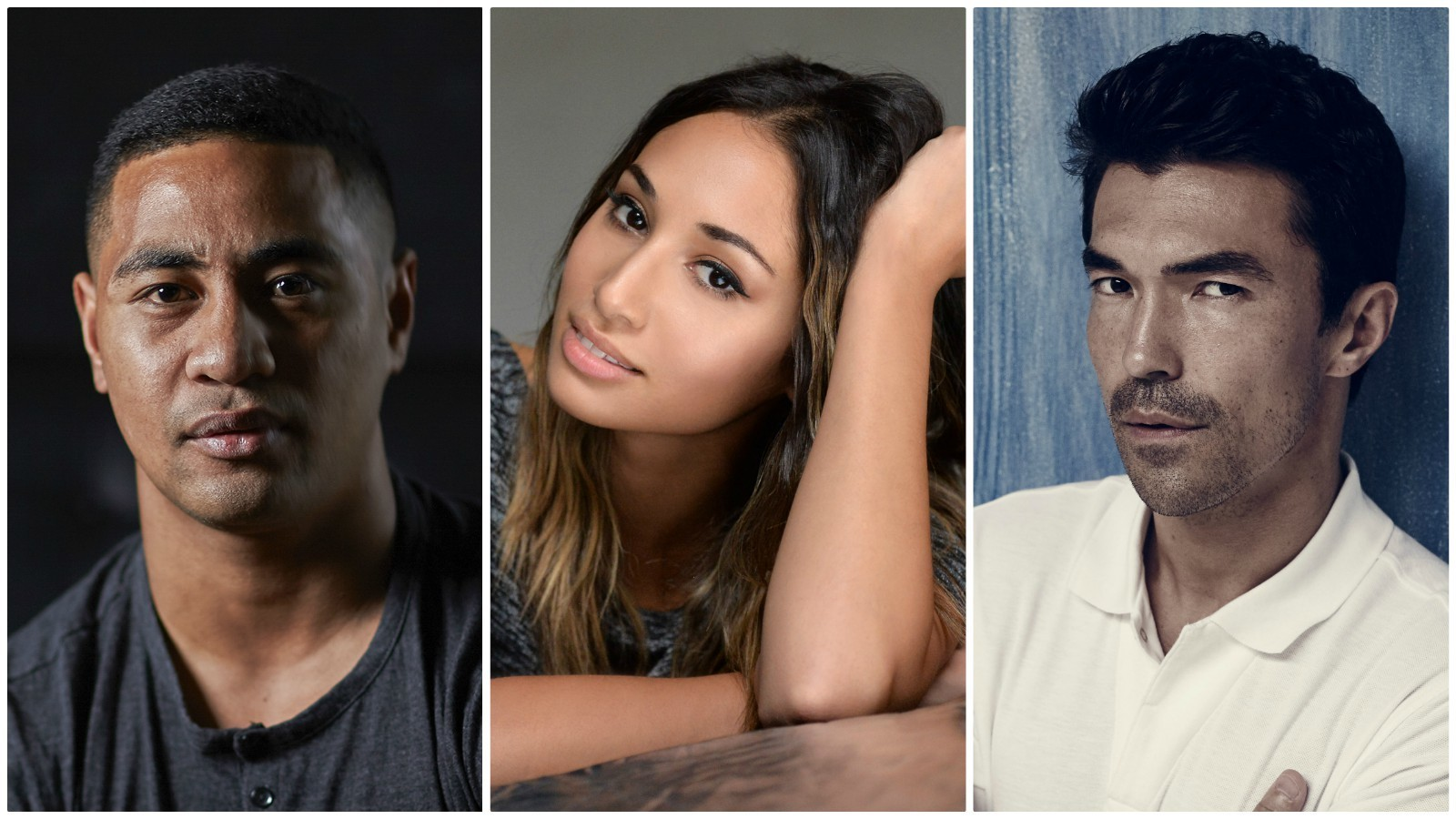 """Beulah Koale, left, Meaghan Rath and Ian Anthonly Dale are joining the principal cast of CBS' """"Hawaii-Five-O."""" (CBS)"""