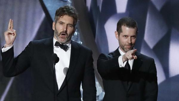 "David Benioff, left, and D,B. Weiss, creators of ""Game of Thrones"" (Robert Gauthier / Los Angeles Times)"