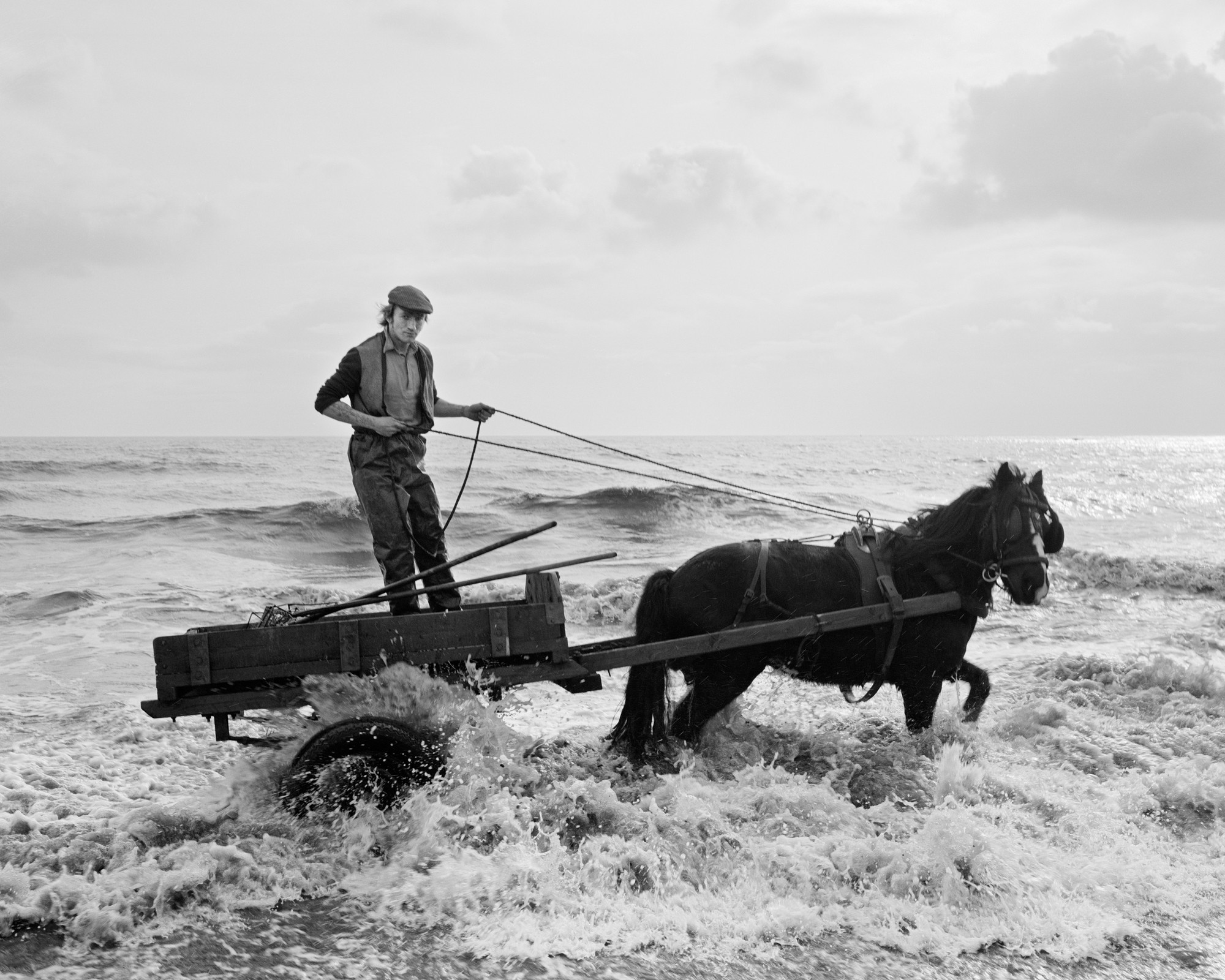 """Gordon and Critch's Cart, Seacoal Beach, Lynemouth, Northumberland,"" 1982, by Chris Killip."