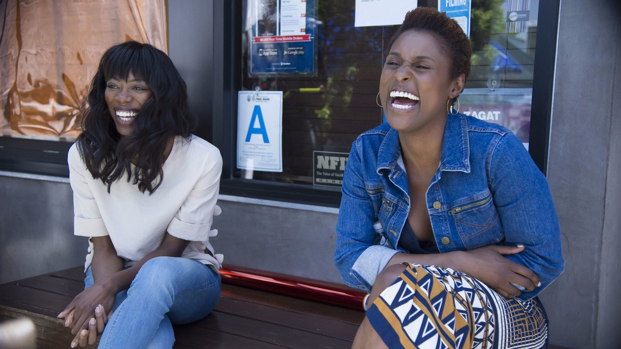 "Yvonne Orji, left, with Issa Rae on ""Insecure."""