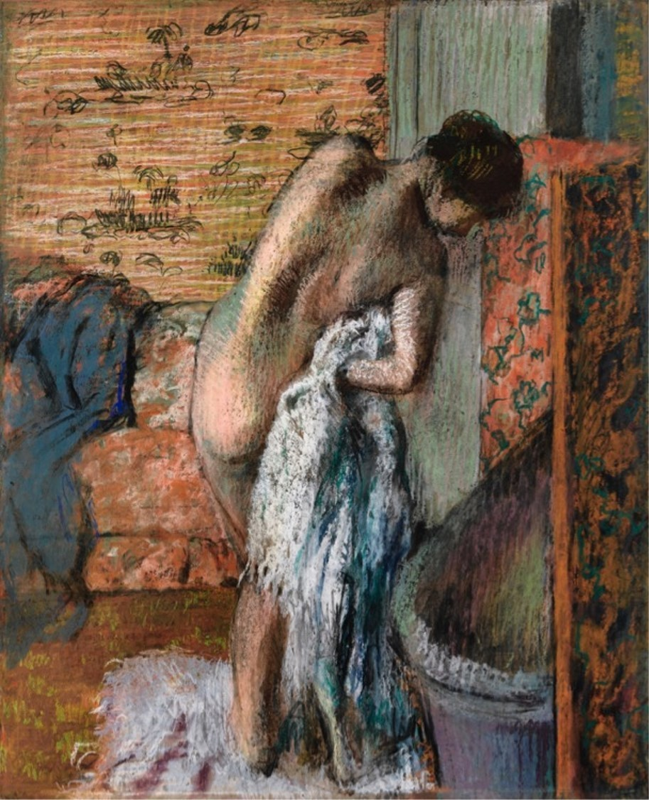 "Edgar Degas, ""After the Bath,"" circa 1886, pastel"