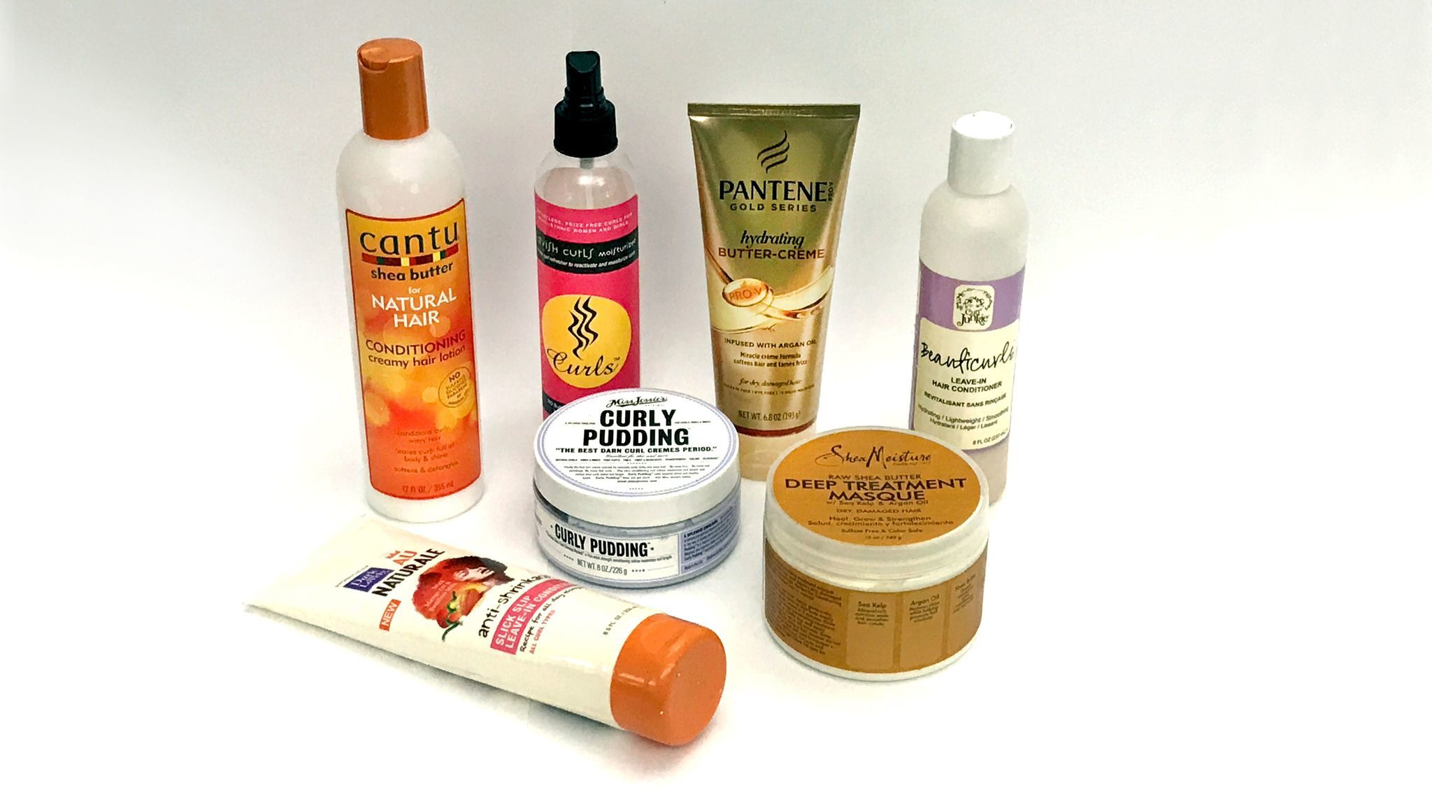 Natural hair has hit the mainstream and companies are eager to cash in. Pictured is a sampling of natural hair products including Cantu, Curls, Miss Jessie's, Au Naturale and SheaMoisture.