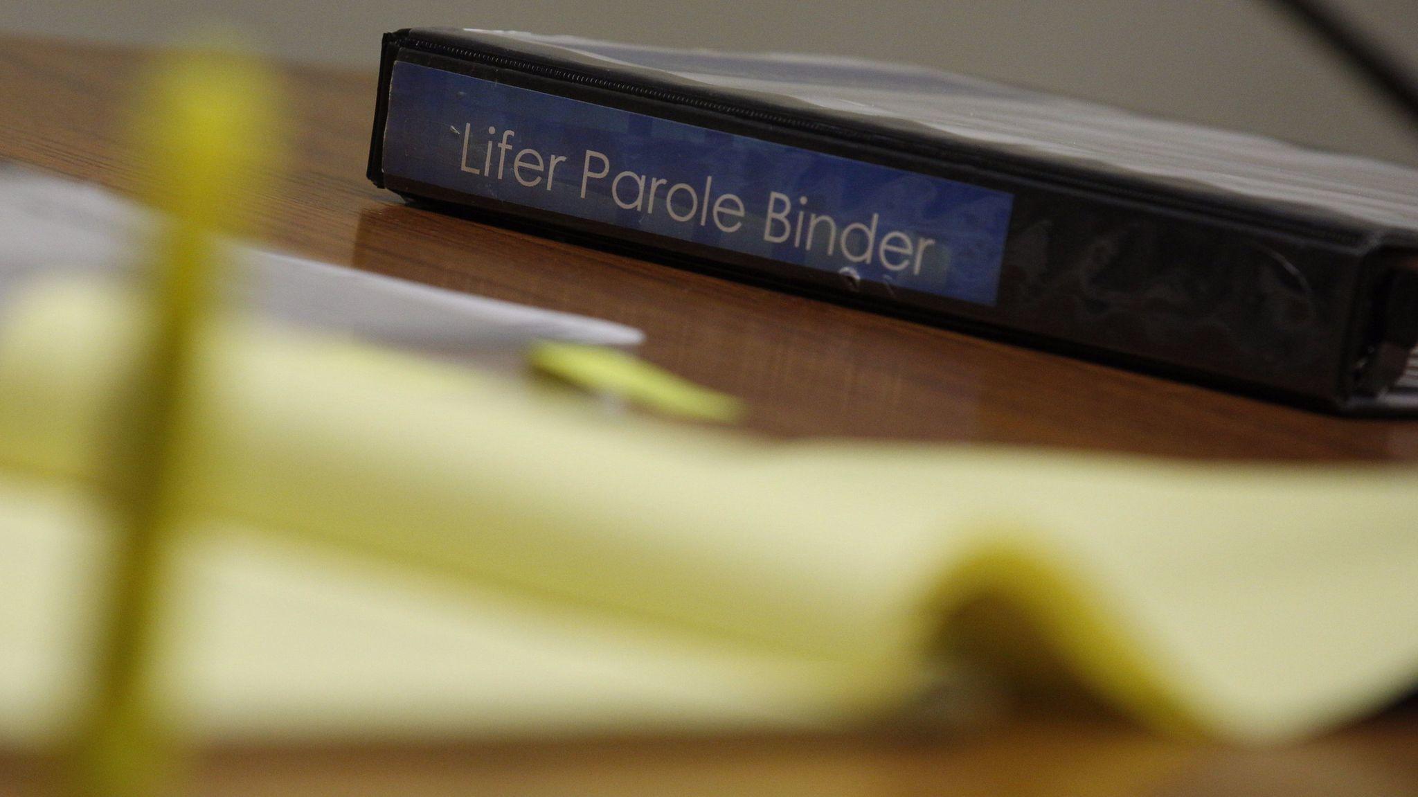 A lifer parole binder.