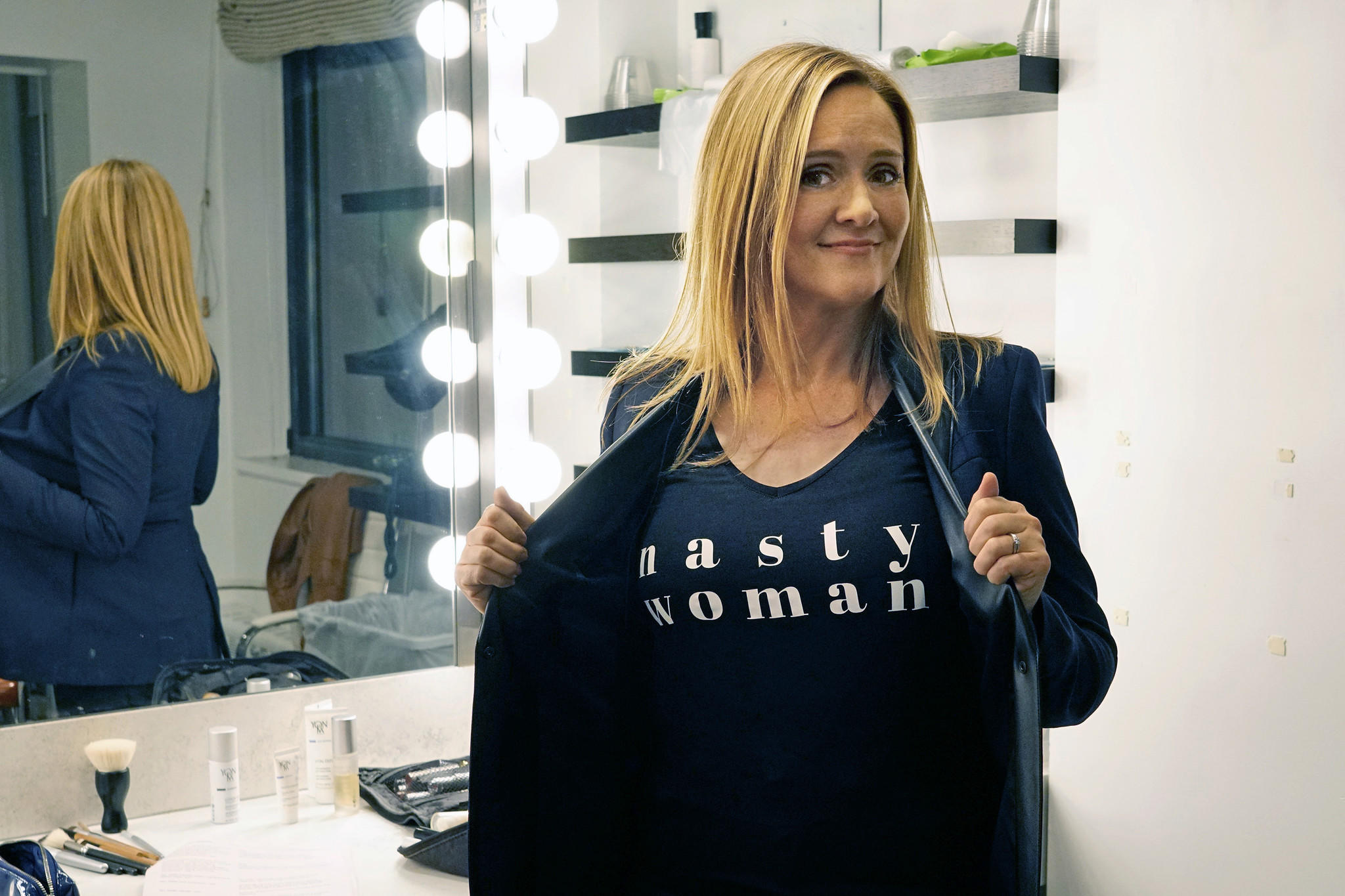 """Samantha Bee slammed Trump's Voter Integrity Commission on """"Full Frontal With Samantha Bee."""" (Myles Aronowitz / TBS)"""