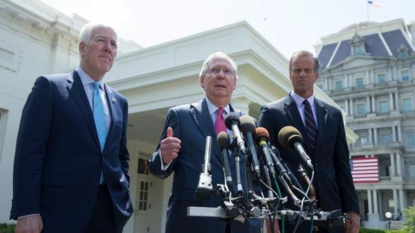 Senate Republicans race toward vote to roll back Obamacare with key details still missing