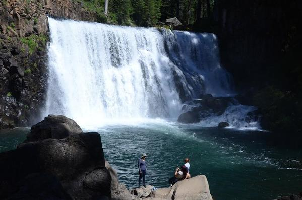 Hike above the roar and mist of McCloud Falls in Northern California