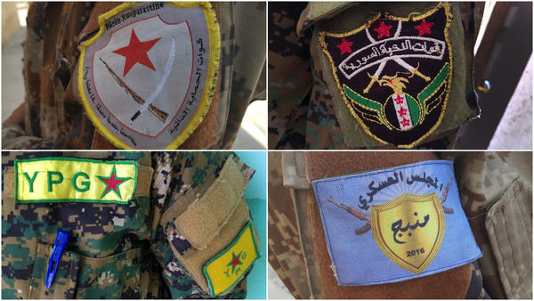 Confused by all those groups fighting in Syria? We break it down with arm patches