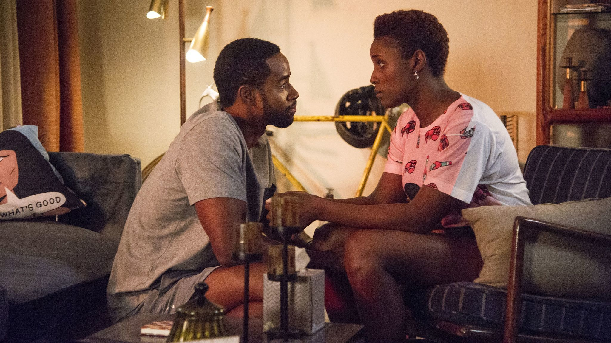 """Jay Ellis, left, plays Lawrence and Issa Rae plays Issa Dee in Season 1 of HBO's """"Insecure."""" (HBO)"""