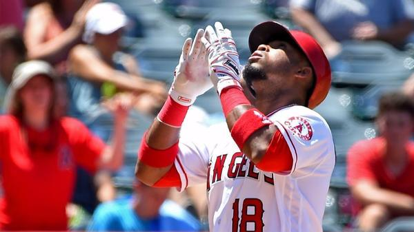 Luis Valbuena drives Angels past Red Sox 3-2